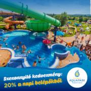 Annagora Aquapark Balatonfüred nyitóhétvégi kedvezmény 2020
