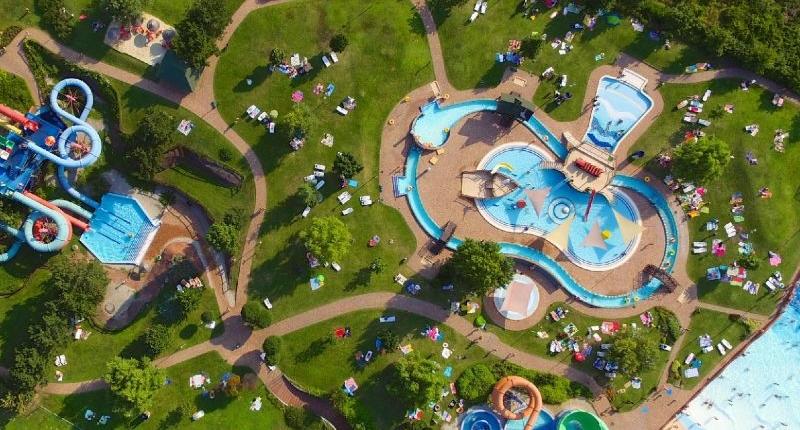 Annagora Aquapark Balatonfüred madártávlatból