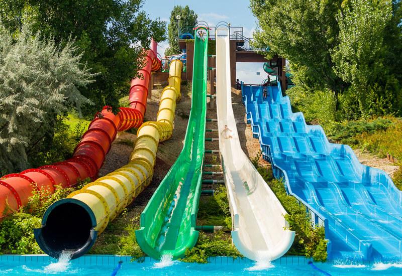 Balatonfüred aquapark - fergeteges csúszdák